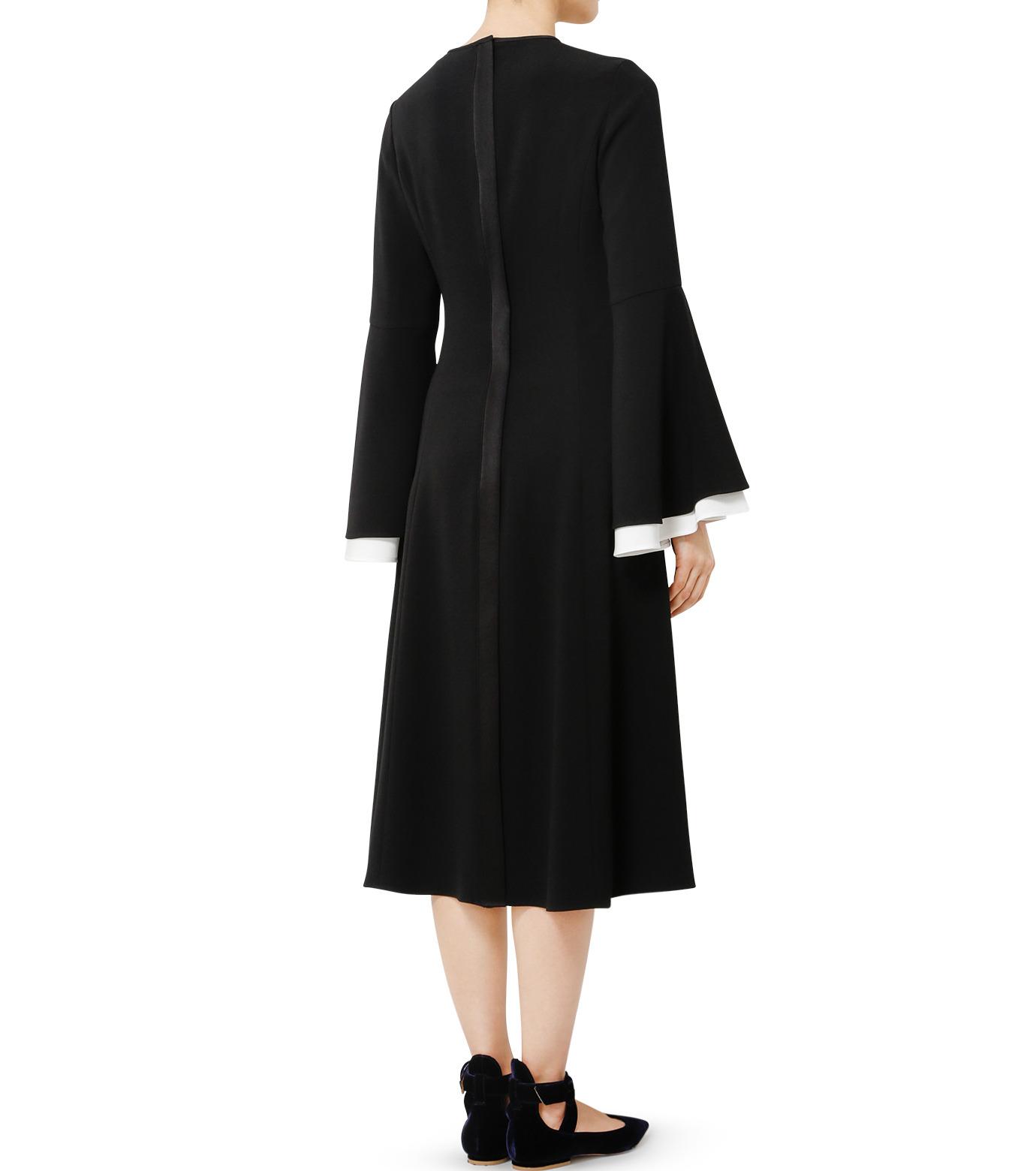 LE CIEL BLEU(ルシェルブルー)のW フレアスリーブドレス-BLACK(ドレス/dress)-19S65103 拡大詳細画像4