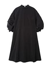 LE CIEL BLEU(ルシェルブルー) ラインリブボリュームパフドレス