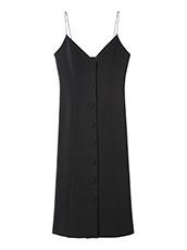 LE CIEL BLEU(ルシェルブルー) ボタンキャミドレス