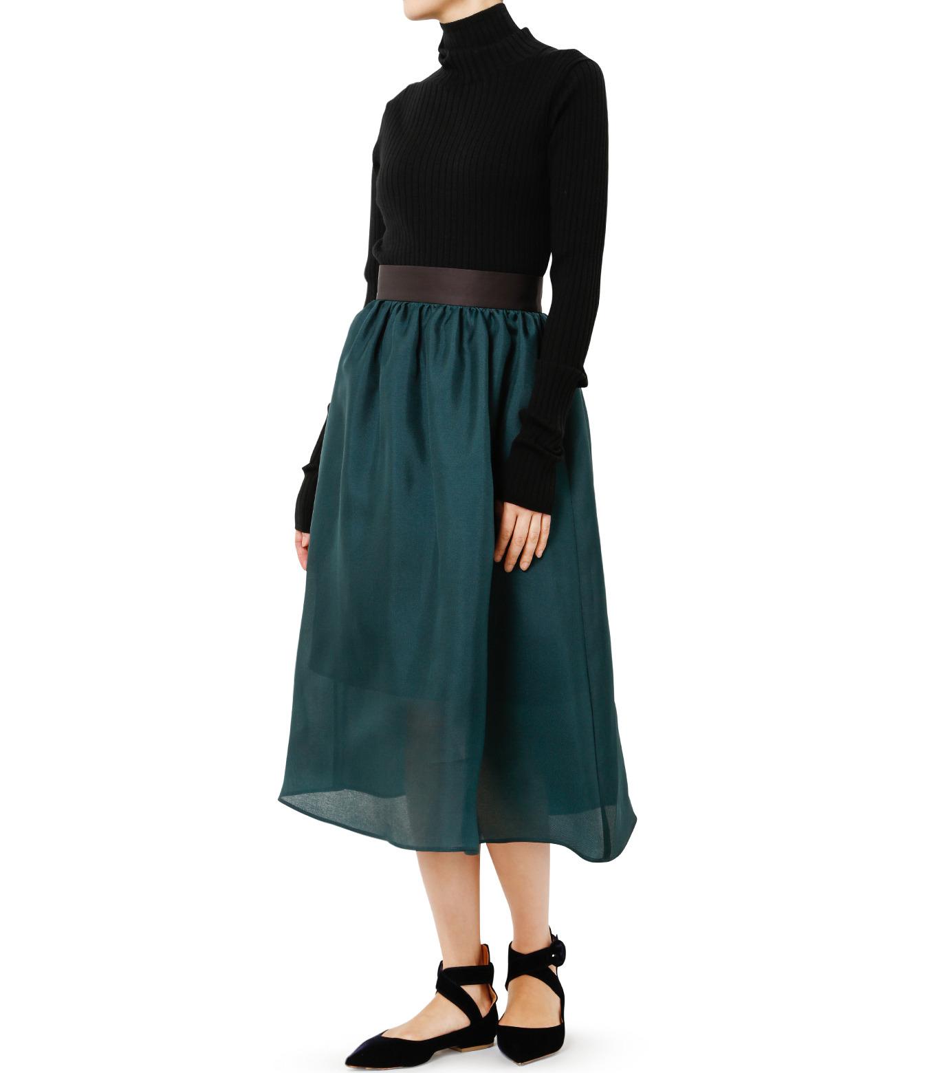 LE CIEL BLEU(ルシェルブルー)のオーガンジーボリュームスカート-GREEN(スカート/skirt)-19S67101 拡大詳細画像2