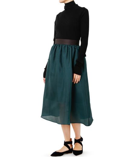LE CIEL BLEU(ルシェルブルー)のオーガンジーボリュームスカート-GREEN(スカート/skirt)-19S67101 詳細画像2