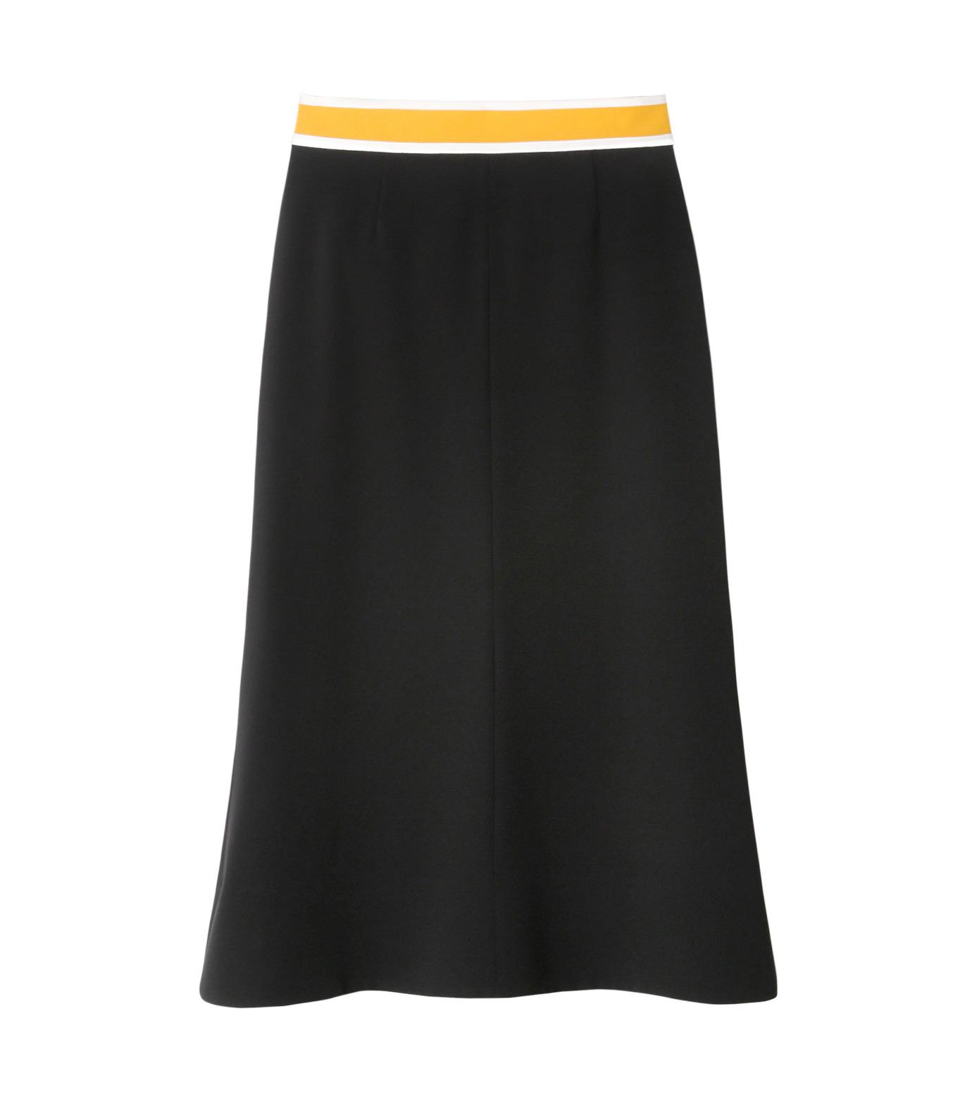 LE CIEL BLEU(ルシェルブルー)のスイッチベルトフレアラインスカート-BLACK(スカート/skirt)-19S67102 拡大詳細画像1