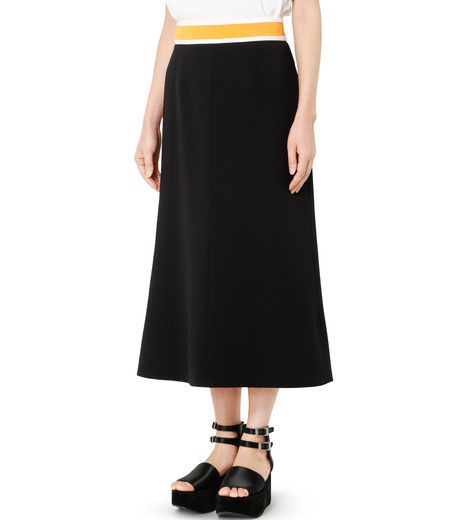 LE CIEL BLEU(ルシェルブルー)のスイッチベルトフレアラインスカート-BLACK(スカート/skirt)-19S67102 詳細画像3