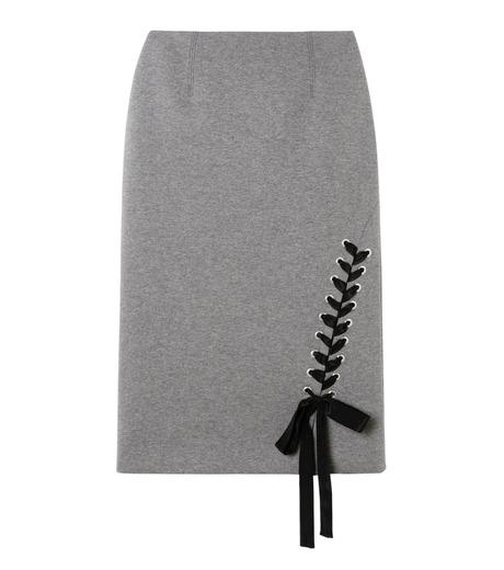 LE CIEL BLEU(ルシェルブルー)のレースアップペンシルスカート-GRAY(スカート/skirt)-19S67103 詳細画像1