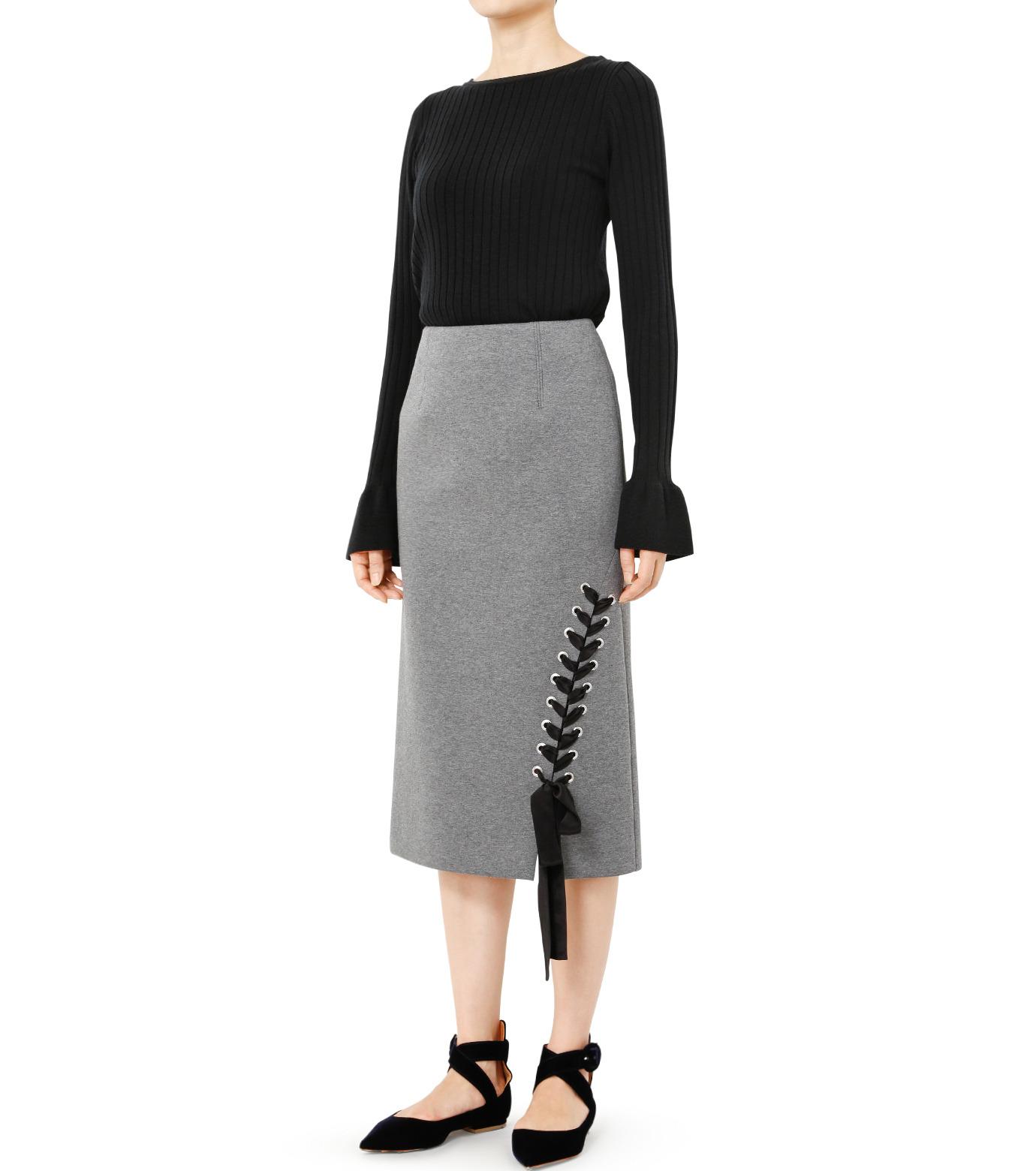 LE CIEL BLEU(ルシェルブルー)のレースアップペンシルスカート-GRAY(スカート/skirt)-19S67103 拡大詳細画像2