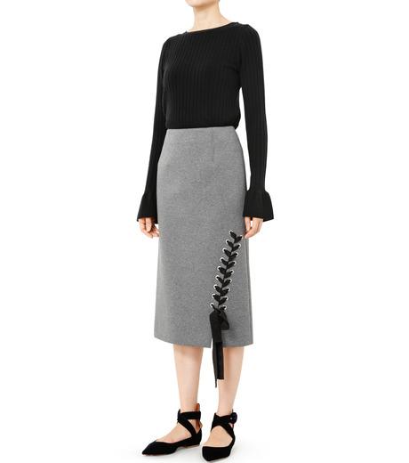 LE CIEL BLEU(ルシェルブルー)のレースアップペンシルスカート-GRAY(スカート/skirt)-19S67103 詳細画像2