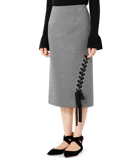 LE CIEL BLEU(ルシェルブルー)のレースアップペンシルスカート-GRAY(スカート/skirt)-19S67103 詳細画像3