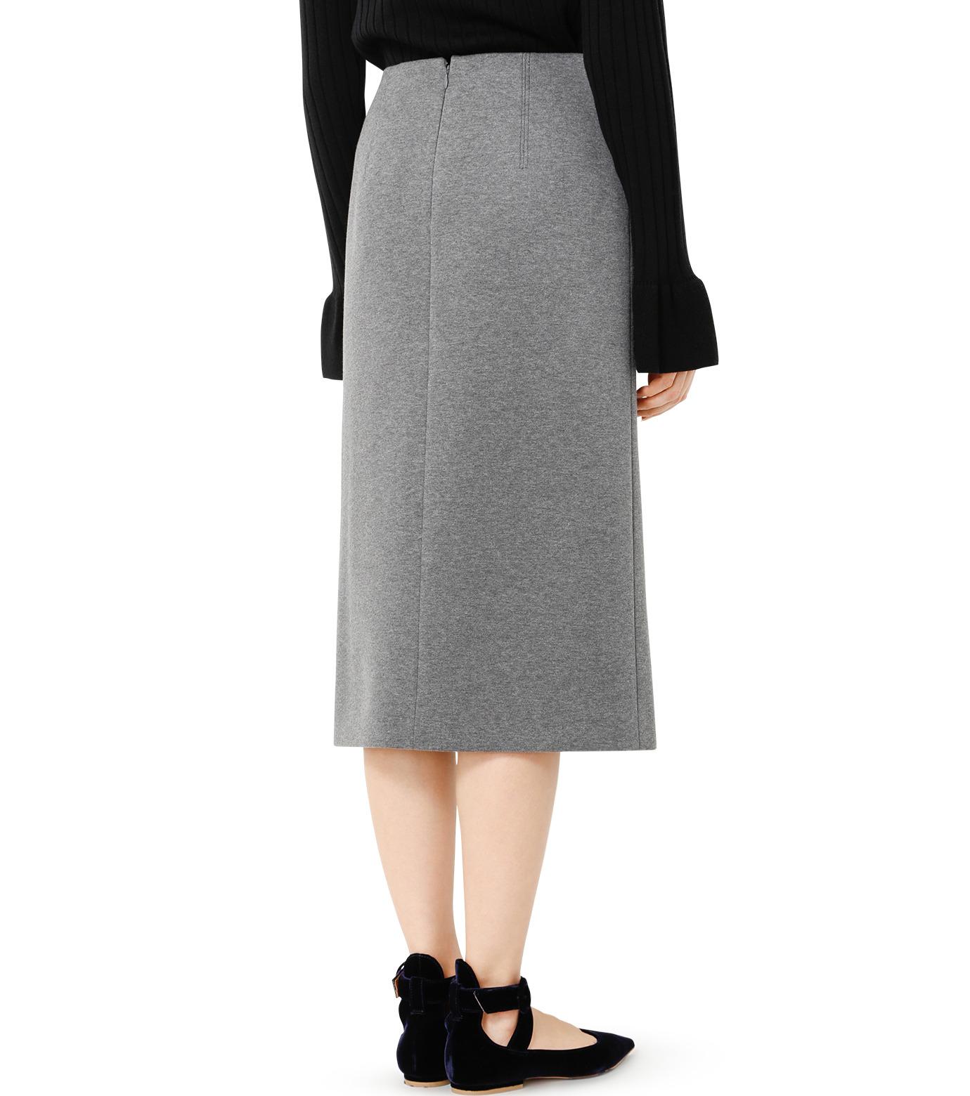LE CIEL BLEU(ルシェルブルー)のレースアップペンシルスカート-GRAY(スカート/skirt)-19S67103 拡大詳細画像4