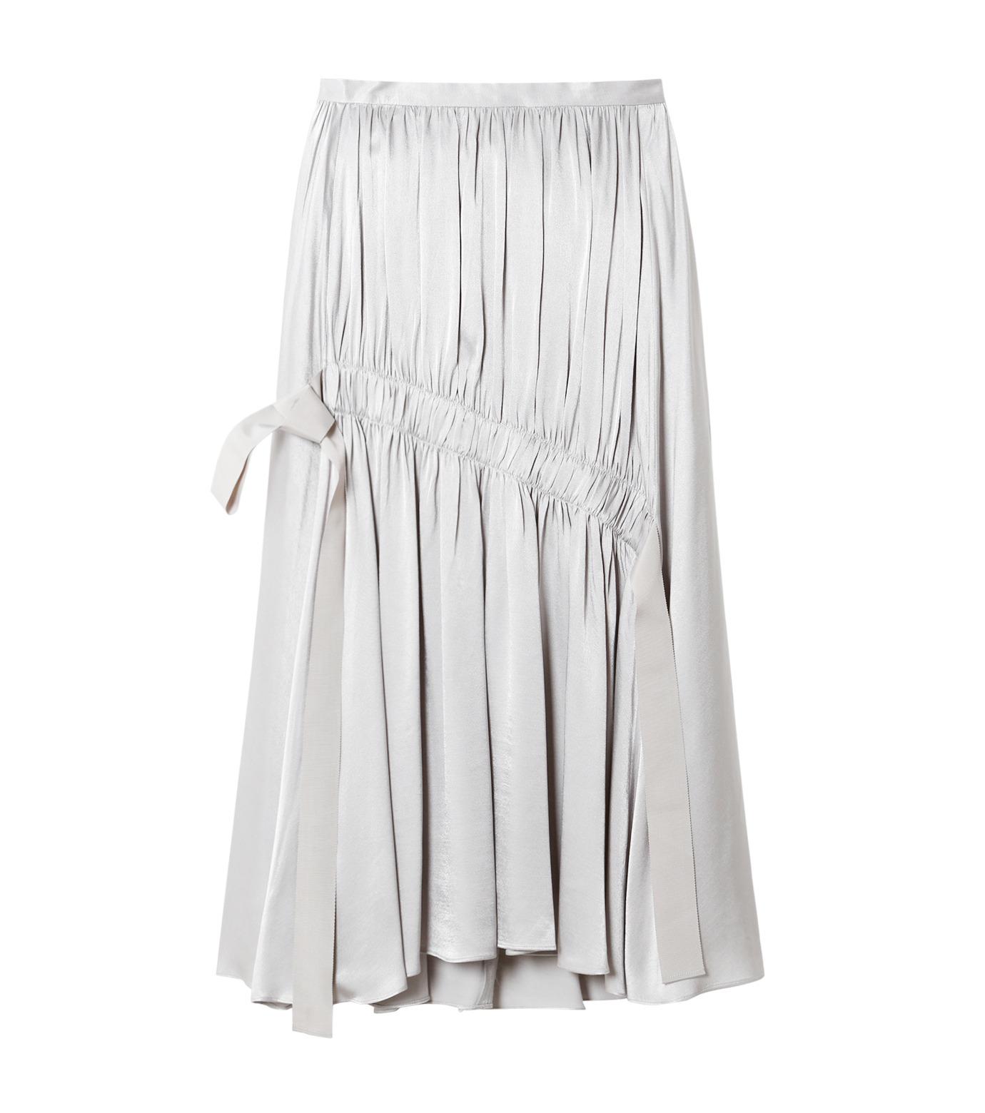 LE CIEL BLEU(ルシェルブルー)のテープギャザリングサテンスカート-GRAY(スカート/skirt)-19S67104 拡大詳細画像1
