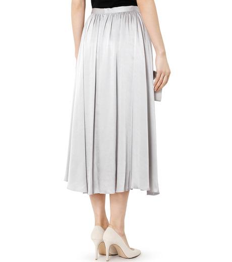 LE CIEL BLEU(ルシェルブルー)のテープギャザリングサテンスカート-GRAY(スカート/skirt)-19S67104 詳細画像4