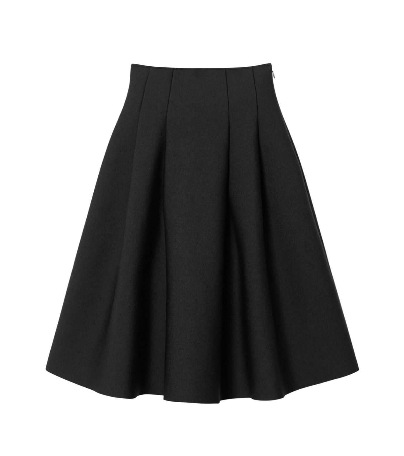 LE CIEL BLEU(ルシェルブルー)のタックニットスカート-BLACK(スカート/skirt)-19S67105 拡大詳細画像1