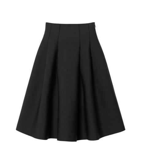 LE CIEL BLEU(ルシェルブルー)のタックニットスカート-BLACK(スカート/skirt)-19S67105 詳細画像1