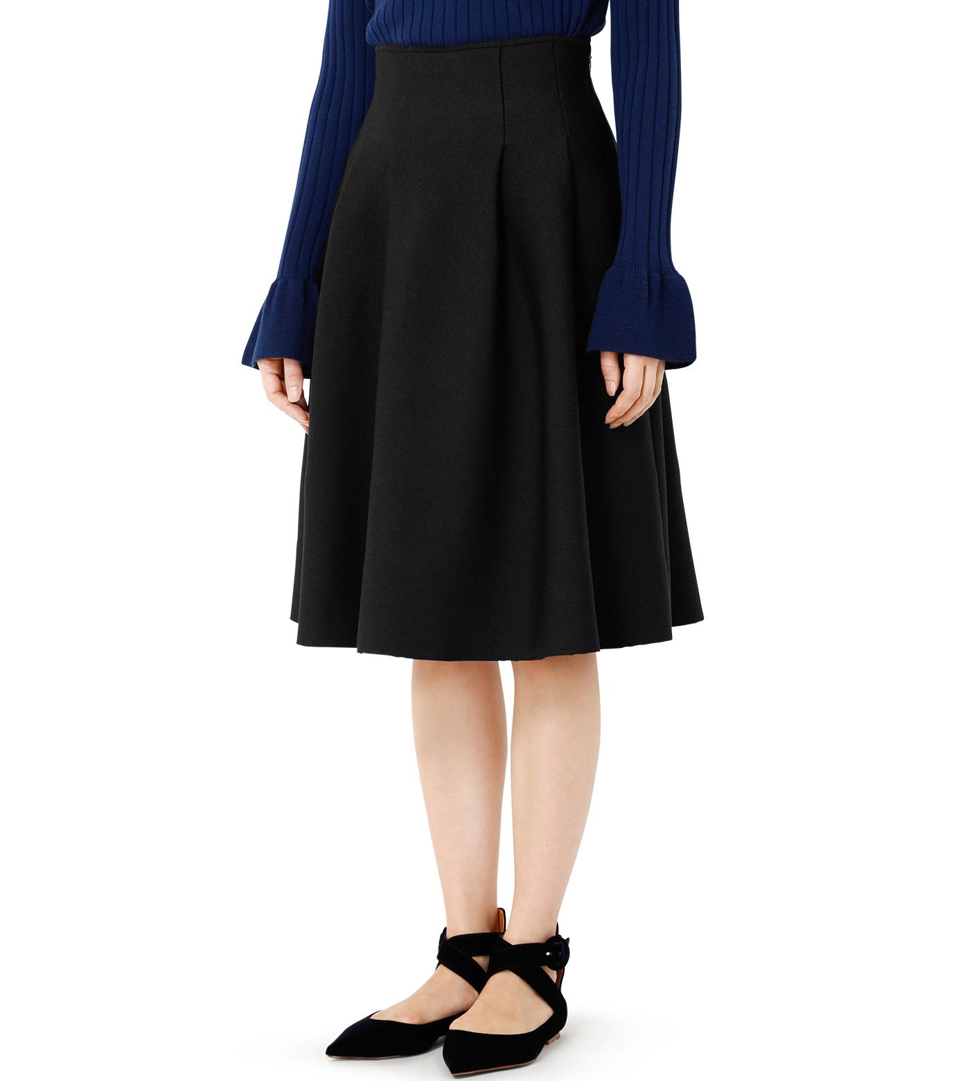 LE CIEL BLEU(ルシェルブルー)のタックニットスカート-BLACK(スカート/skirt)-19S67105 拡大詳細画像2