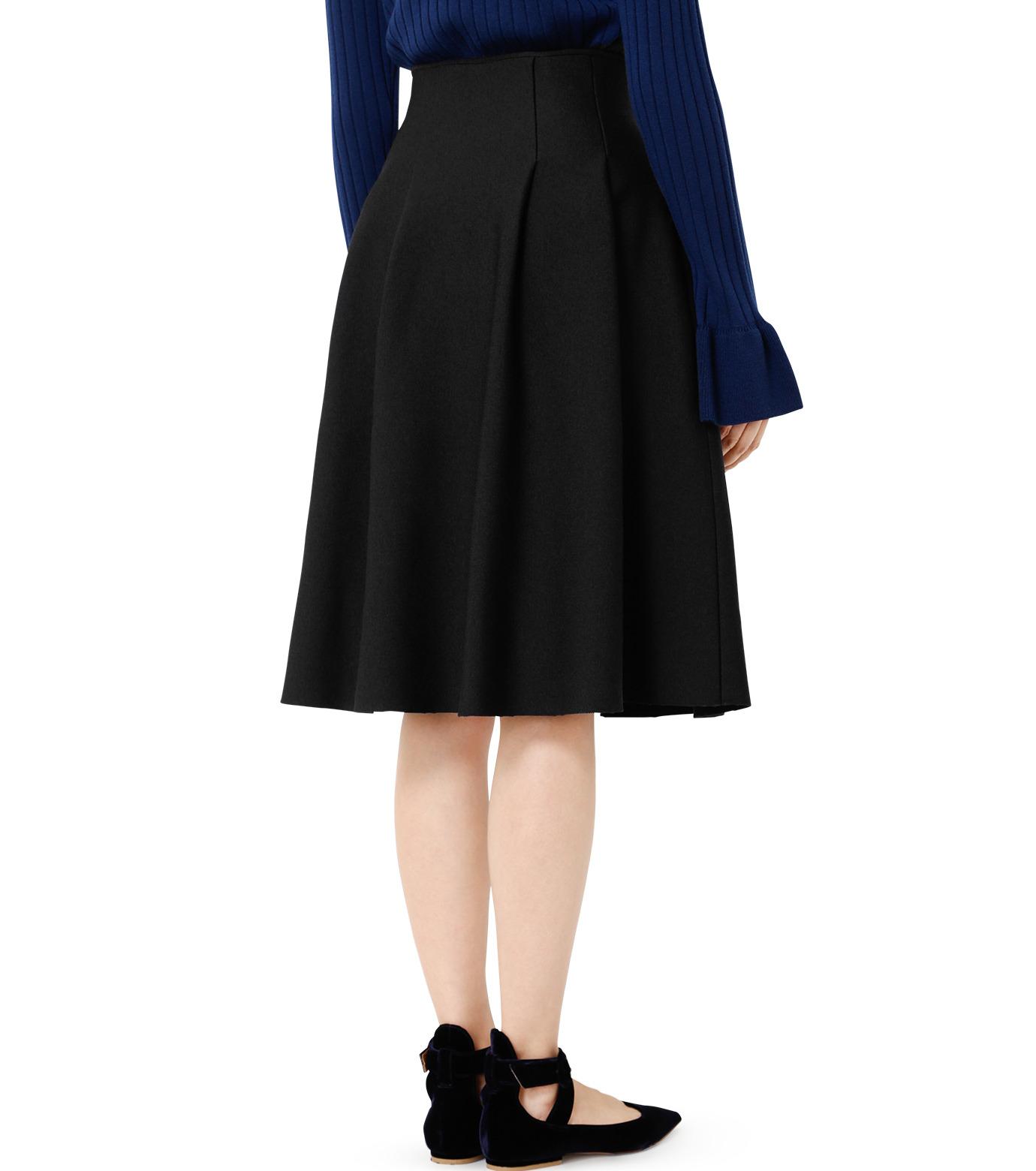 LE CIEL BLEU(ルシェルブルー)のタックニットスカート-BLACK(スカート/skirt)-19S67105 拡大詳細画像3