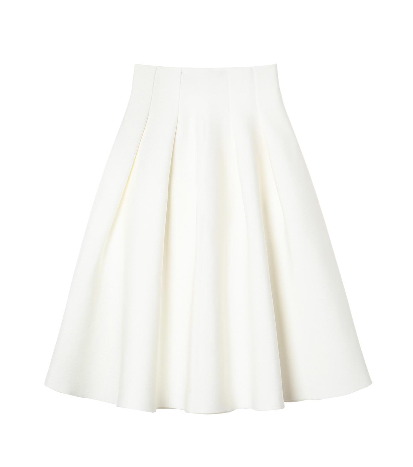 LE CIEL BLEU(ルシェルブルー)のタックニットスカート-WHITE(スカート/skirt)-19S67105 拡大詳細画像1