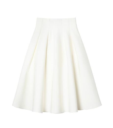 LE CIEL BLEU(ルシェルブルー)のタックニットスカート-WHITE(スカート/skirt)-19S67105 詳細画像1