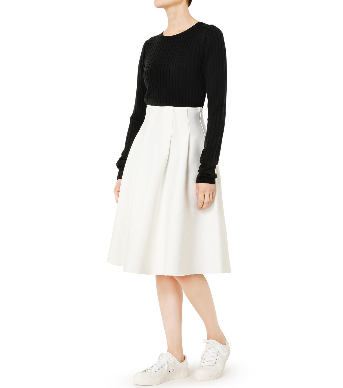LE CIEL BLEU(ルシェルブルー)のタックニットスカート-WHITE(スカート/skirt)-19S67105 拡大詳細画像2