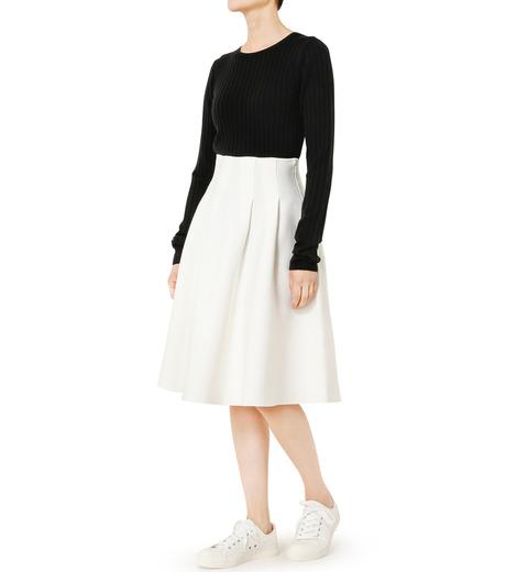LE CIEL BLEU(ルシェルブルー)のタックニットスカート-WHITE(スカート/skirt)-19S67105 詳細画像2