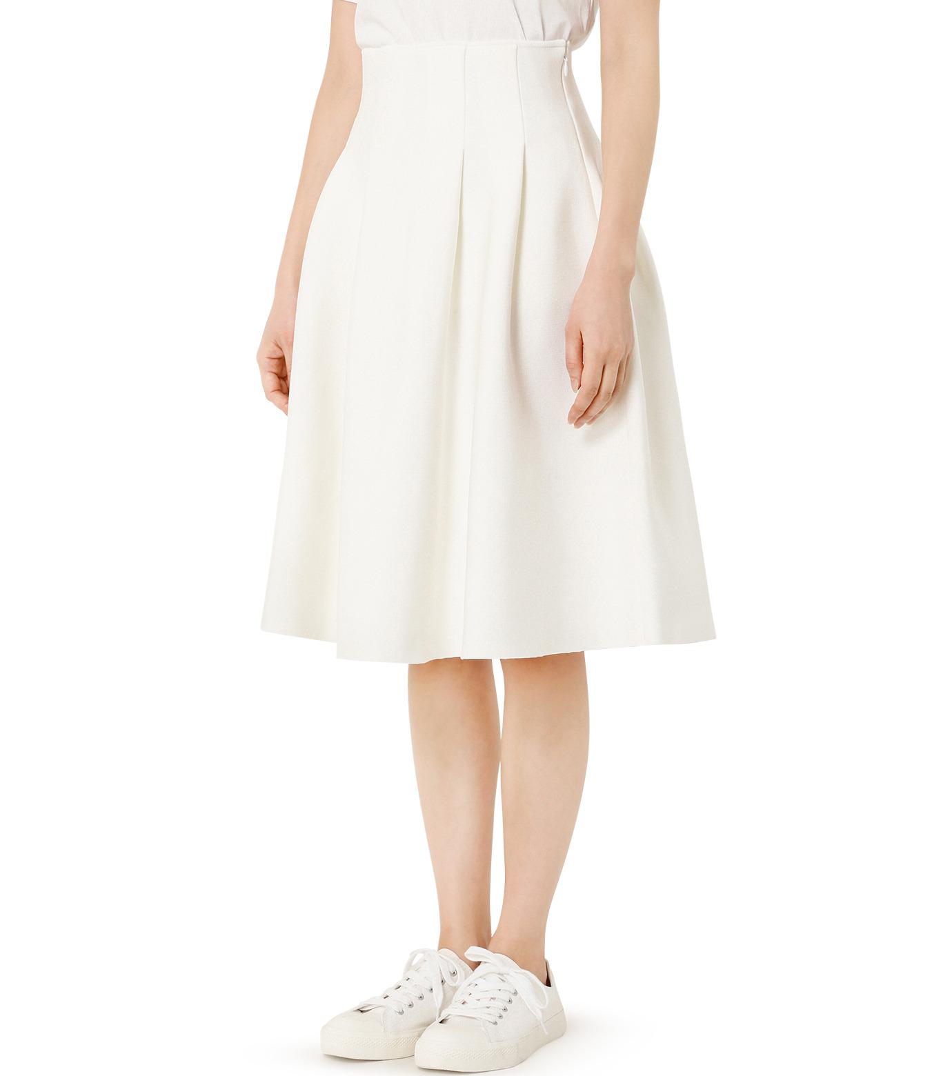 LE CIEL BLEU(ルシェルブルー)のタックニットスカート-WHITE(スカート/skirt)-19S67105 拡大詳細画像3