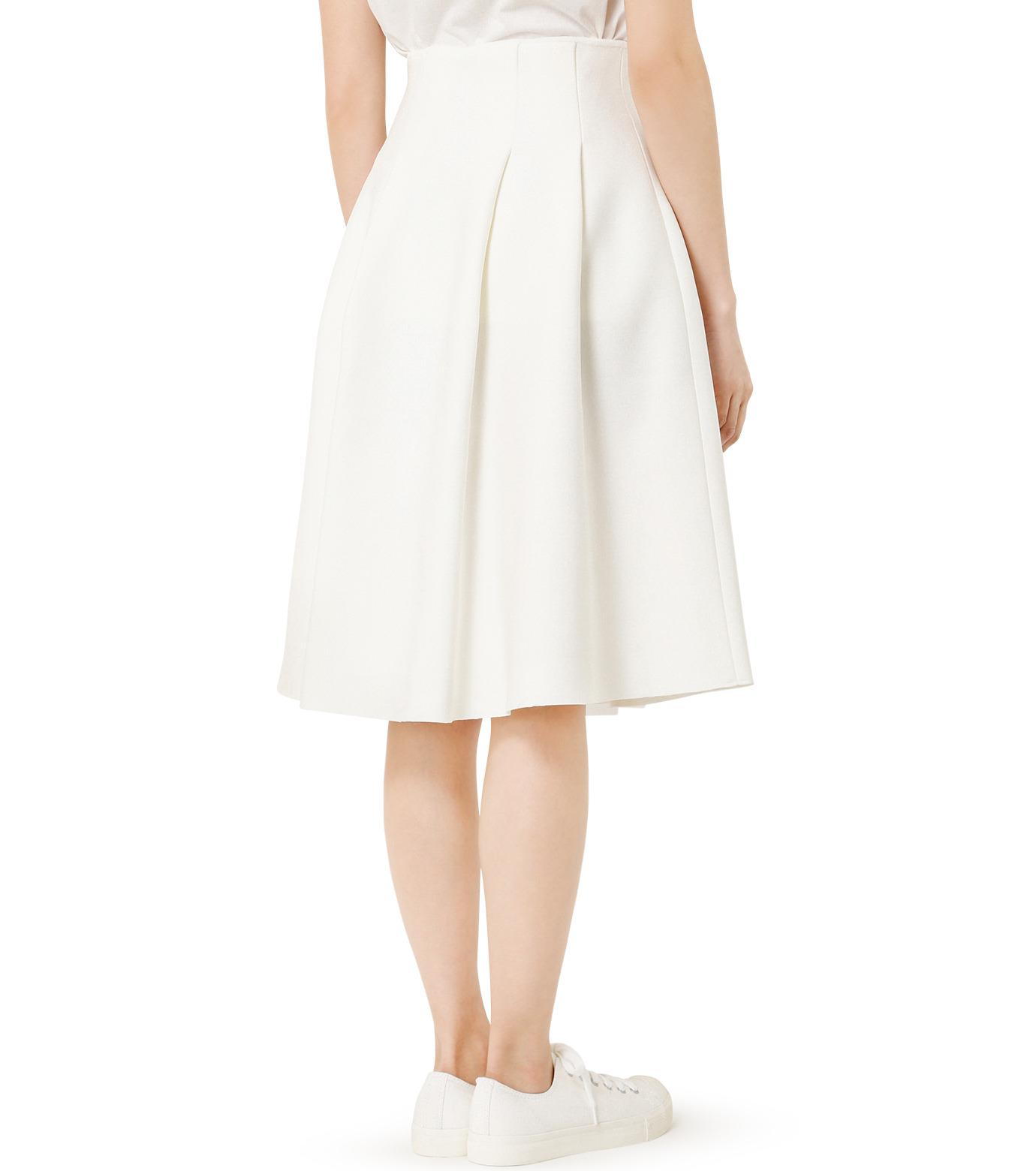 LE CIEL BLEU(ルシェルブルー)のタックニットスカート-WHITE(スカート/skirt)-19S67105 拡大詳細画像4