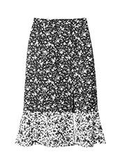LE CIEL BLEU(ルシェルブルー) パターンミックススリットフレアスカート