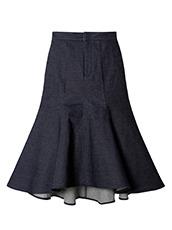 LE CIEL BLEU(ルシェルブルー) フレアデニムスカート