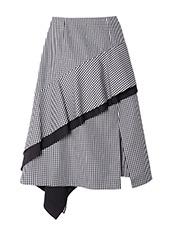 LE CIEL BLEU(ルシェルブルー) ギンガムチェックフロウフレアスカート