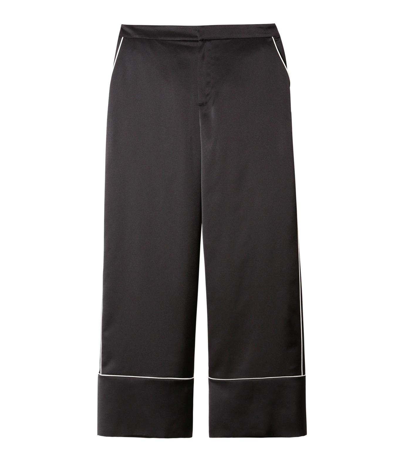 LE CIEL BLEU(ルシェルブルー)のパジャマルックパンツ-BLACK(パンツ/pants)-19S68101 拡大詳細画像1