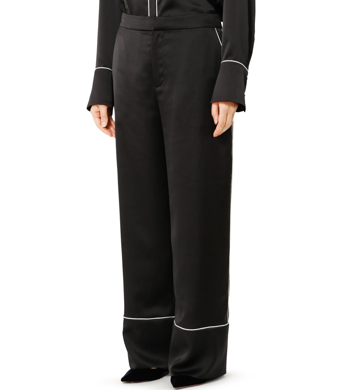 LE CIEL BLEU(ルシェルブルー)のパジャマルックパンツ-BLACK(パンツ/pants)-19S68101 拡大詳細画像3