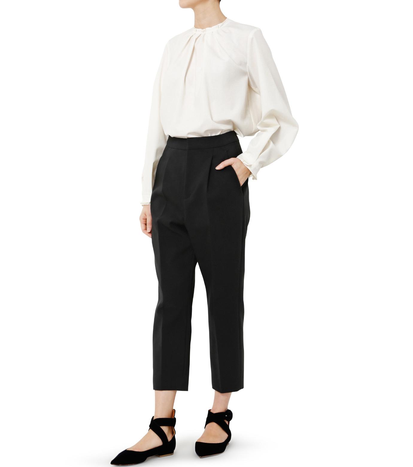 LE CIEL BLEU(ルシェルブルー)のクロップルーズパンツ-BLACK(パンツ/pants)-19S68102 拡大詳細画像2