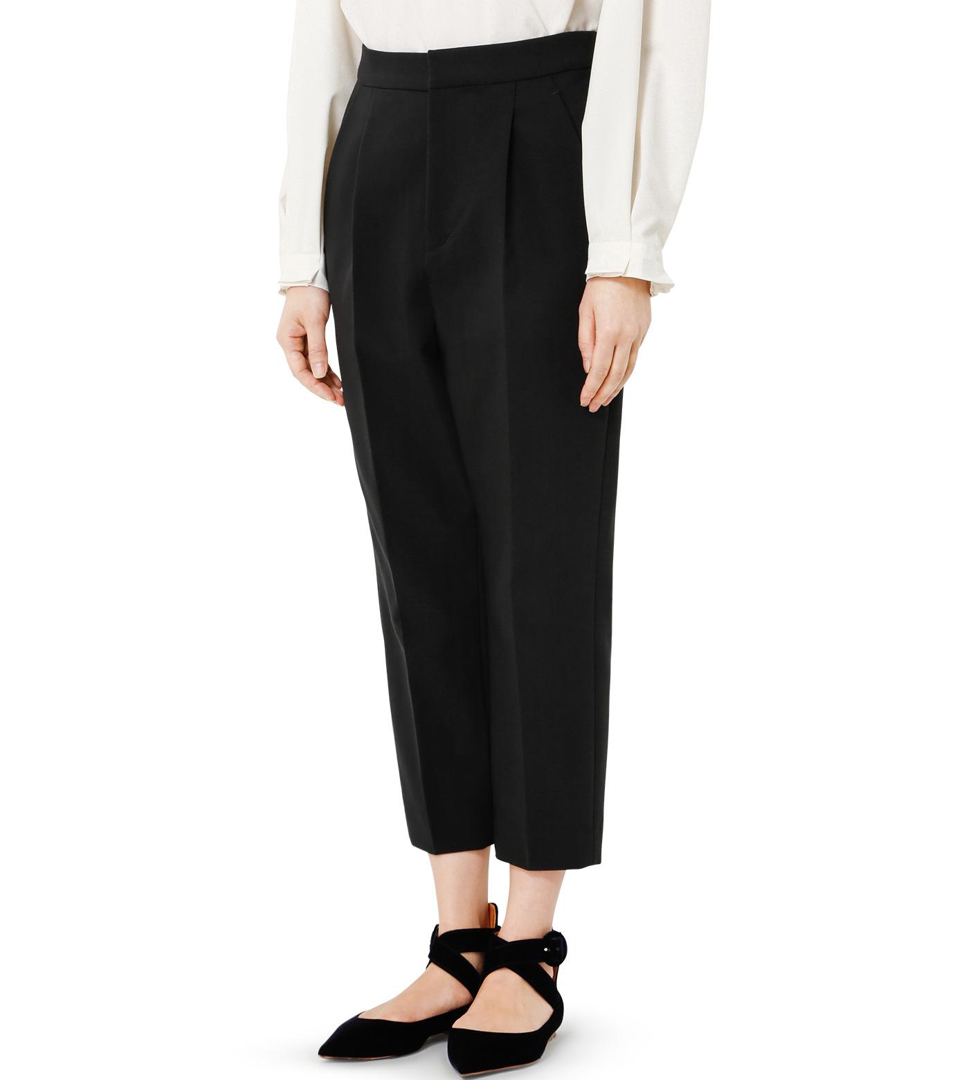 LE CIEL BLEU(ルシェルブルー)のクロップルーズパンツ-BLACK(パンツ/pants)-19S68102 拡大詳細画像3