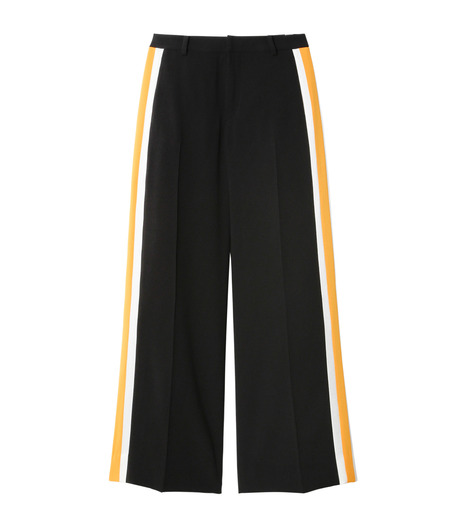 LE CIEL BLEU(ルシェルブルー)のトラックワイドパンツ-BLACK(パンツ/pants)-19S68103 詳細画像1