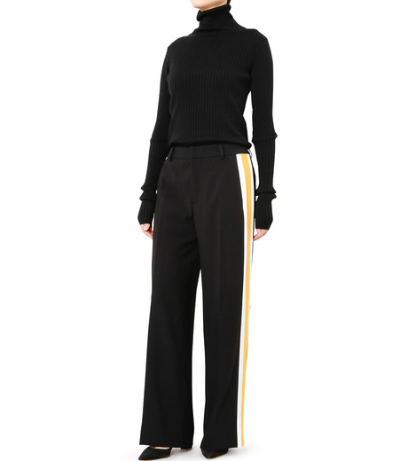 LE CIEL BLEU(ルシェルブルー)のトラックワイドパンツ-BLACK(パンツ/pants)-19S68103 詳細画像2