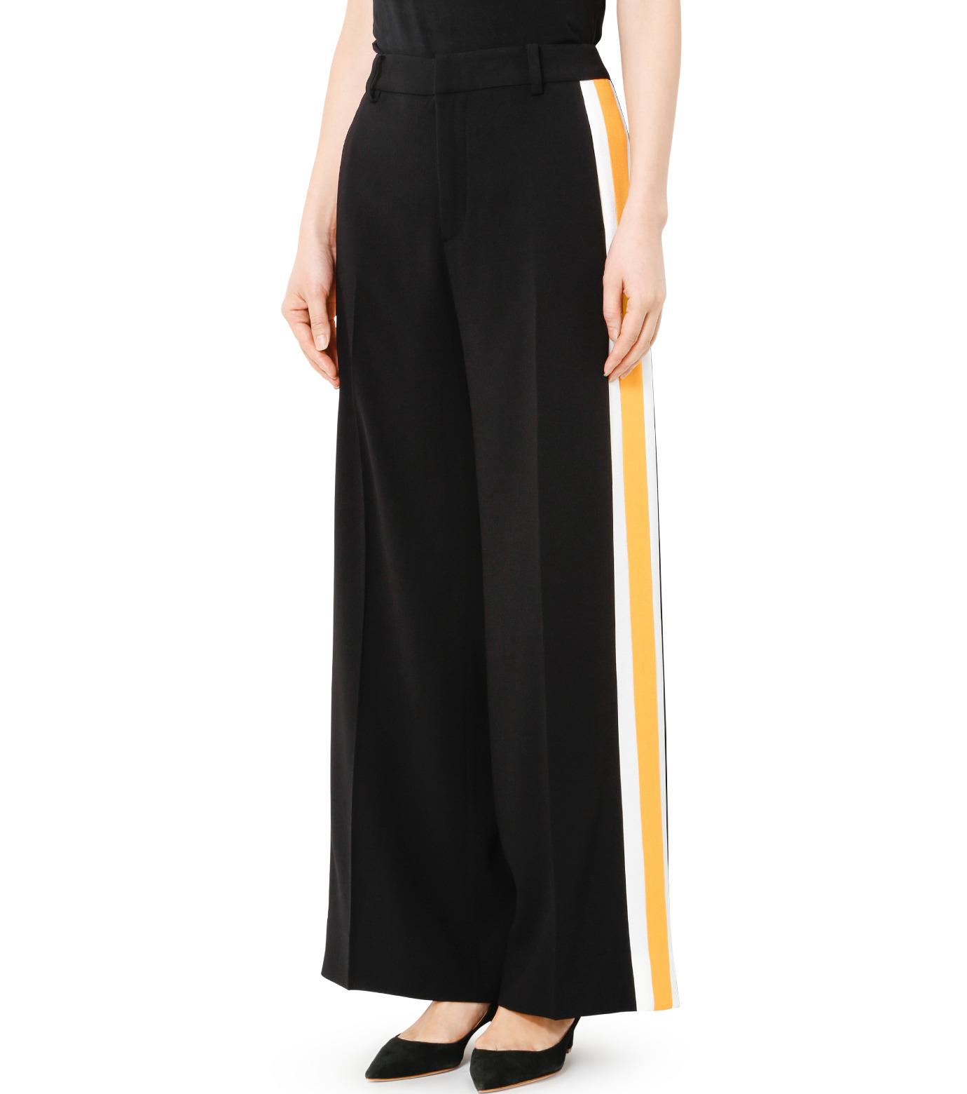 LE CIEL BLEU(ルシェルブルー)のトラックワイドパンツ-BLACK(パンツ/pants)-19S68103 拡大詳細画像3