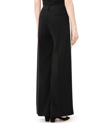 LE CIEL BLEU(ルシェルブルー)のトラックワイドパンツ-BLACK(パンツ/pants)-19S68103 詳細画像4