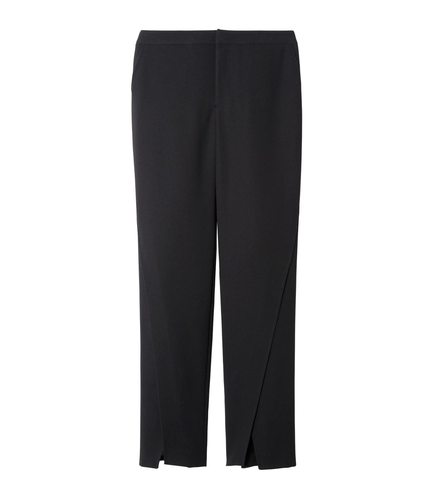 LE CIEL BLEU(ルシェルブルー)のフロントスリットパンツ-BLACK(パンツ/pants)-19S68104 拡大詳細画像1