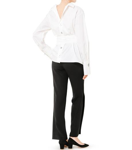 LE CIEL BLEU(ルシェルブルー)のフロントスリットパンツ-BLACK(パンツ/pants)-19S68104 詳細画像3