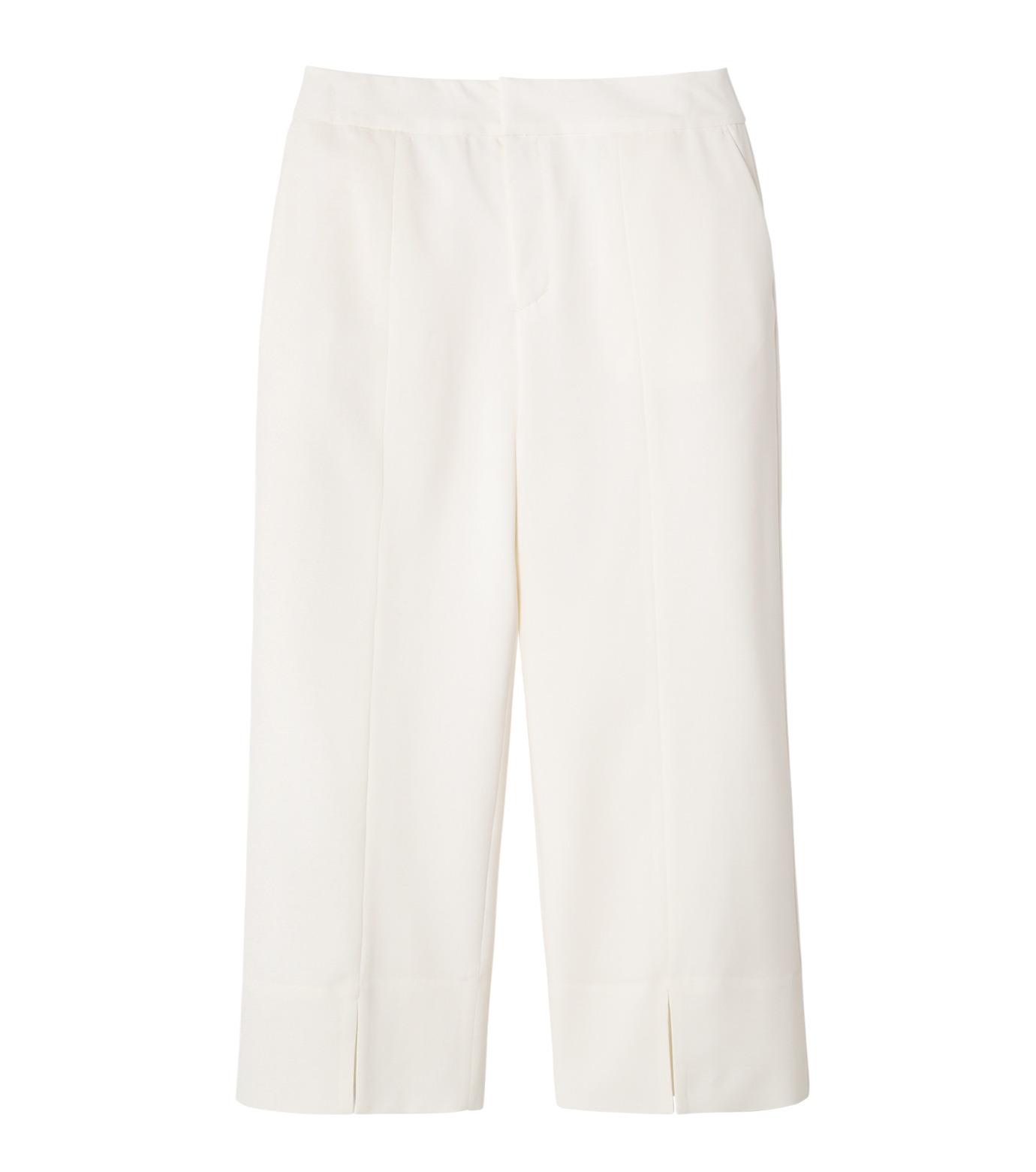 LE CIEL BLEU(ルシェルブルー)のサマーウールストレートパンツ-WHITE(パンツ/pants)-19S68105 拡大詳細画像1