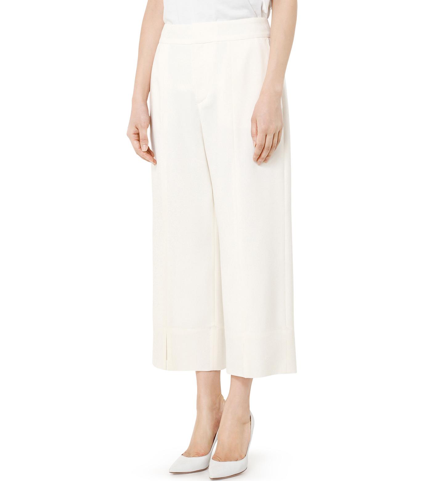 LE CIEL BLEU(ルシェルブルー)のサマーウールストレートパンツ-WHITE(パンツ/pants)-19S68105 拡大詳細画像3