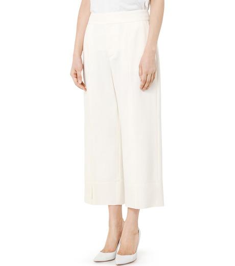 LE CIEL BLEU(ルシェルブルー)のサマーウールストレートパンツ-WHITE(パンツ/pants)-19S68105 詳細画像3