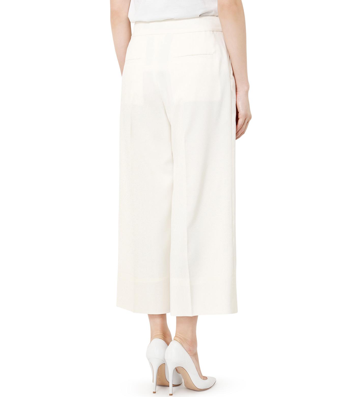 LE CIEL BLEU(ルシェルブルー)のサマーウールストレートパンツ-WHITE(パンツ/pants)-19S68105 拡大詳細画像4