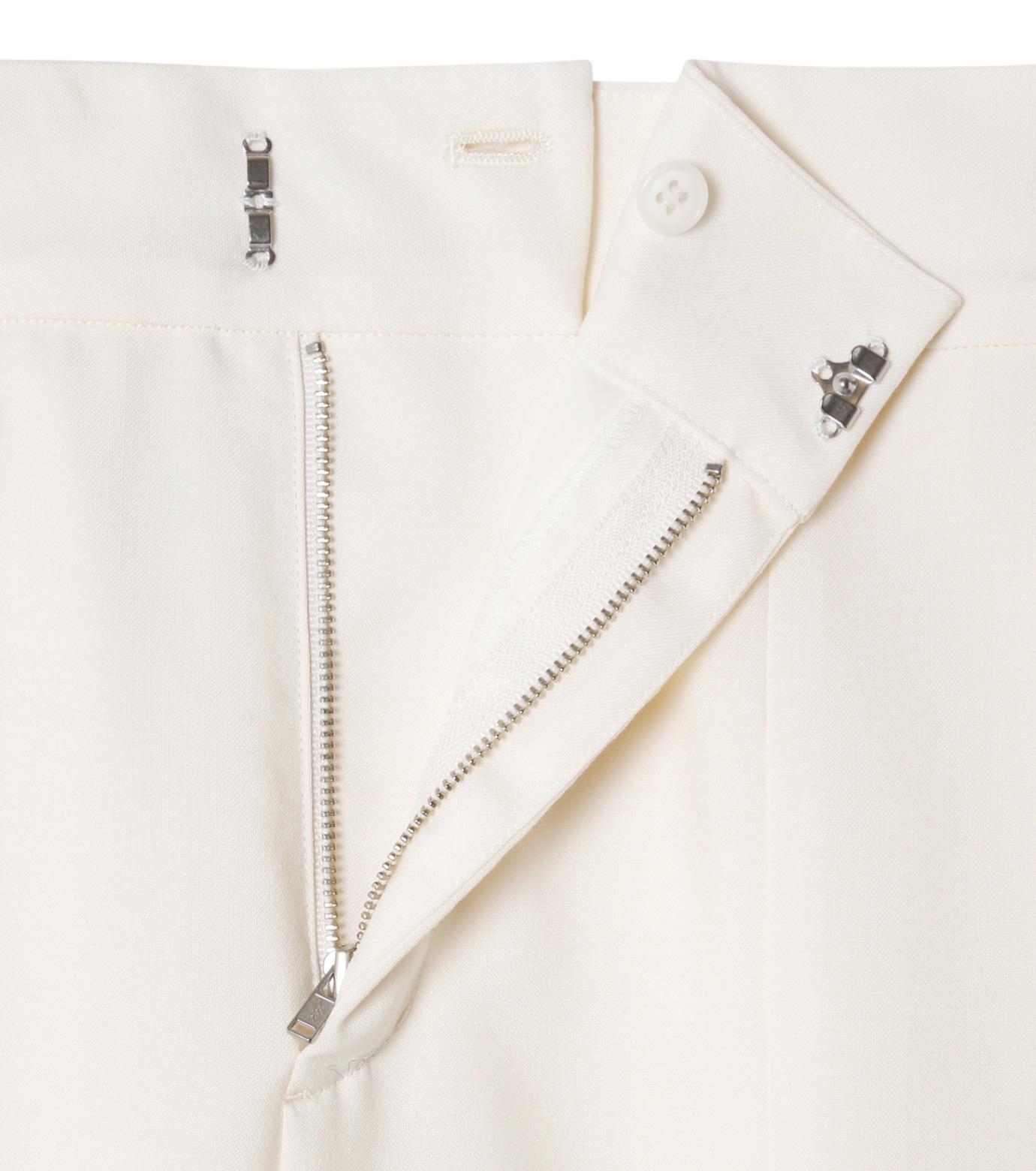 LE CIEL BLEU(ルシェルブルー)のサマーウールストレートパンツ-WHITE(パンツ/pants)-19S68105 拡大詳細画像5
