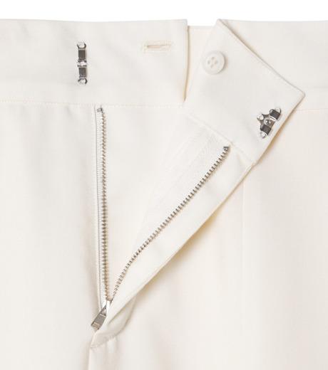 LE CIEL BLEU(ルシェルブルー)のサマーウールストレートパンツ-WHITE(パンツ/pants)-19S68105 詳細画像5