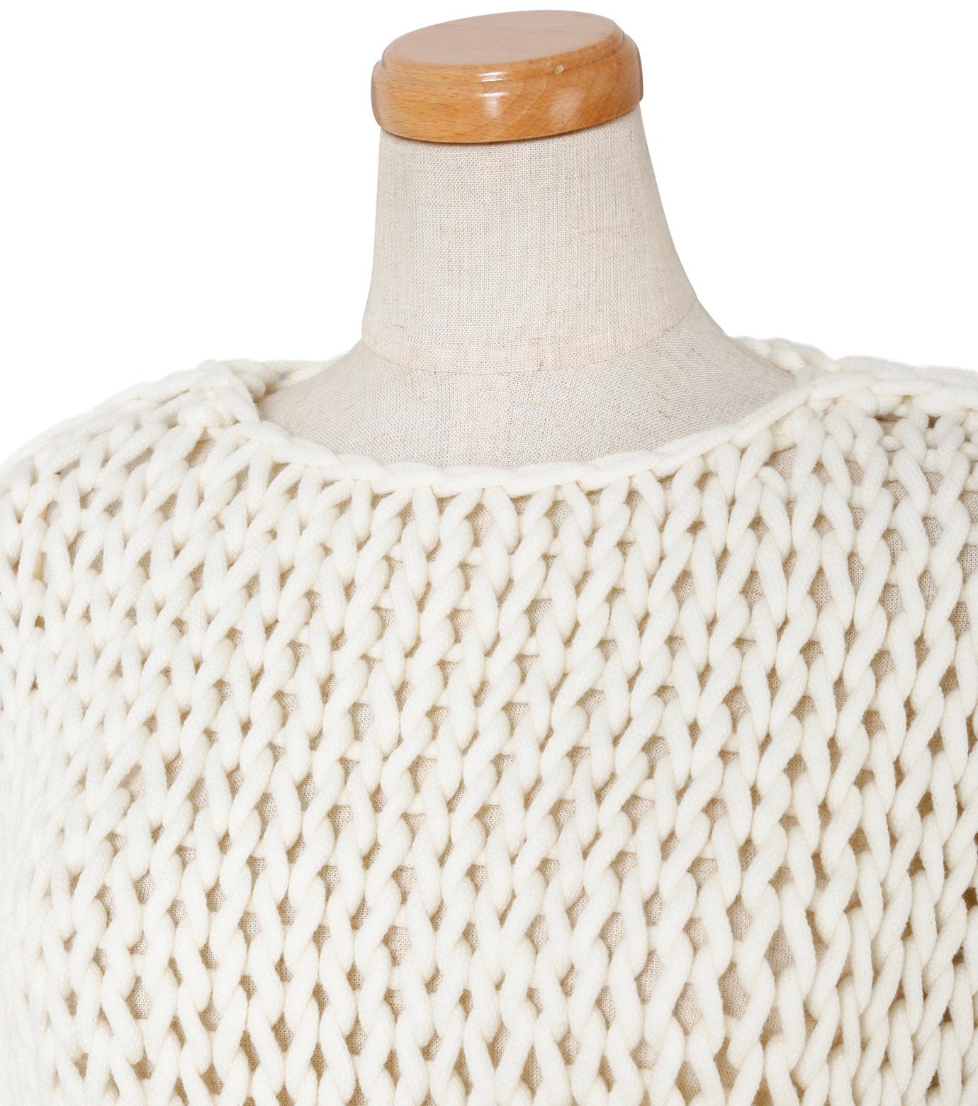 IRENE(アイレネ)のスーパーローゲージハンドニット-WHITE(ニット/knit)-19S81004 拡大詳細画像4