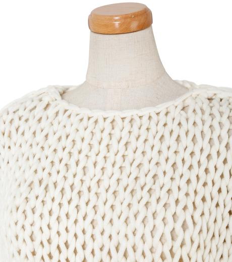 IRENE(アイレネ)のスーパーローゲージハンドニット-WHITE(ニット/knit)-19S81004 詳細画像4