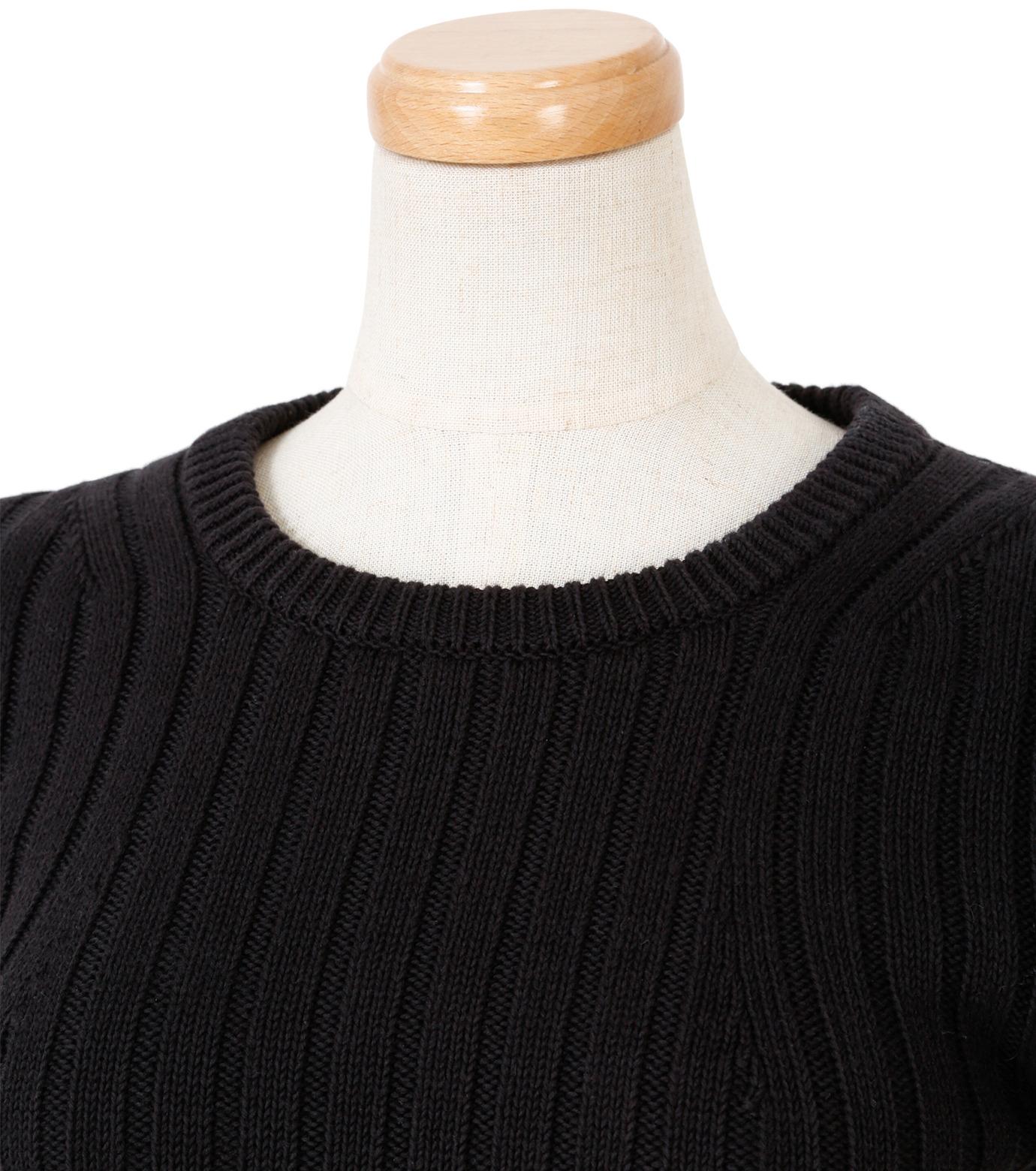 IRENE(アイレネ)のファブリックリボンニット-BLACK(ニット/knit)-19S81005 拡大詳細画像4