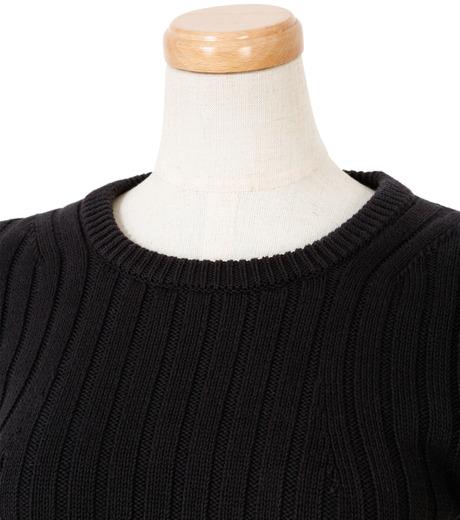 IRENE(アイレネ)のファブリックリボンニット-BLACK(ニット/knit)-19S81005 詳細画像4