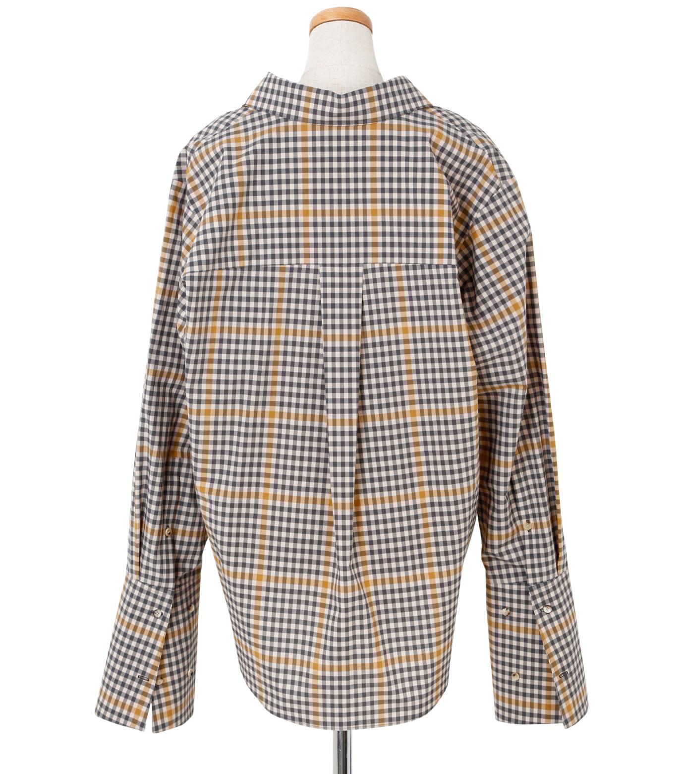 IRENE(アイレネ)のグラフチェックシャツ-LIGHT BEIGE(シャツ/shirt)-19S83001 拡大詳細画像3