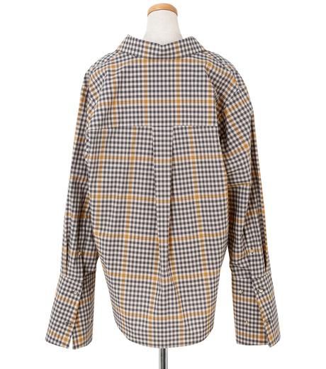 IRENE(アイレネ)のグラフチェックシャツ-LIGHT BEIGE(シャツ/shirt)-19S83001 詳細画像3
