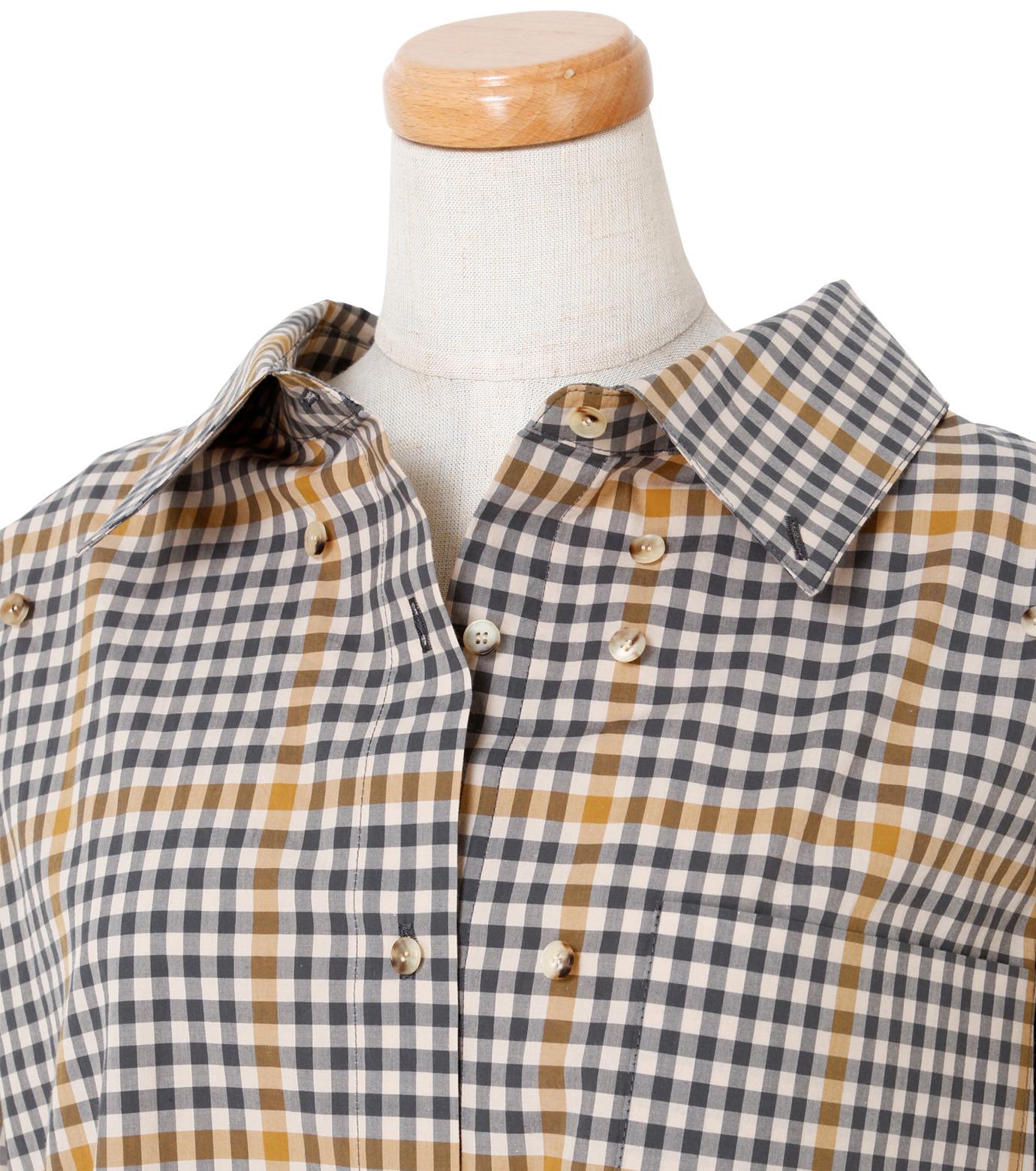 IRENE(アイレネ)のグラフチェックシャツ-LIGHT BEIGE(シャツ/shirt)-19S83001 拡大詳細画像4